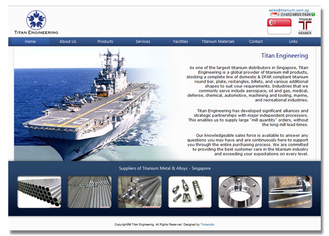 Titan Engineering Website After Redesign by Timzstudio